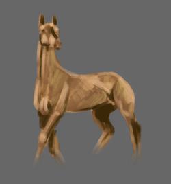 Horse brush strokes