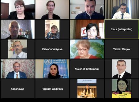 Members of the Azerbaijan TB Caucus meet online