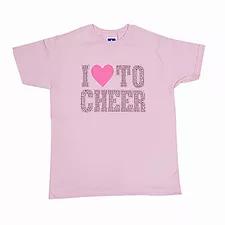 Rhinestone I Love to Cheer T-shirt