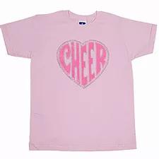 Pink Rhinestone Cheer T-shirt