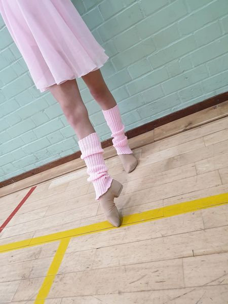 Dance Training Pink Leg Warmers