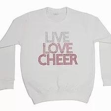 Rhinestone Live Love Cheer Jumper