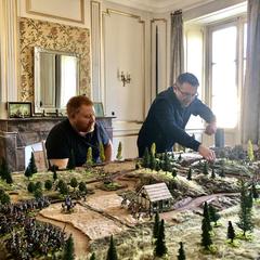 Matt & Philippe play in the Salon de Guerre