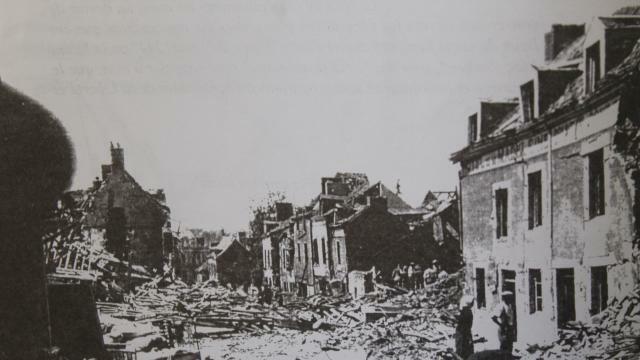 Ville Mayenne Bomb damage