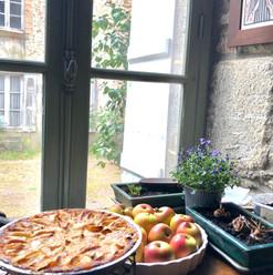 Baking in the Hercé kitchen
