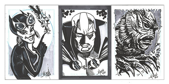 Comic Con Commision sketches.