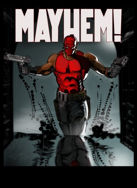 Tyrese Gibson's Mayhem Promo Art.