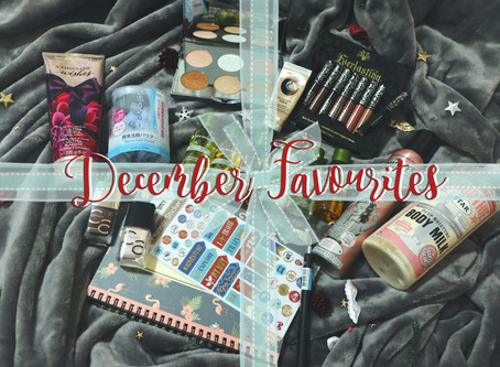 DECEMBER FAVOURITES & NEW YEAR'S GIVEAWAY!