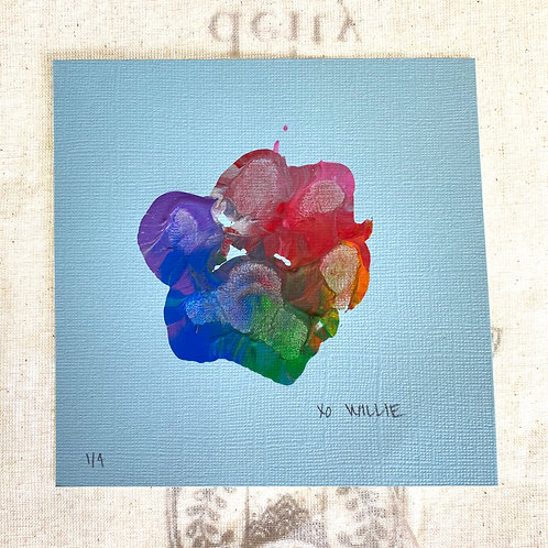 Willie's Art - Rainbow Matte Blue Series 1/4