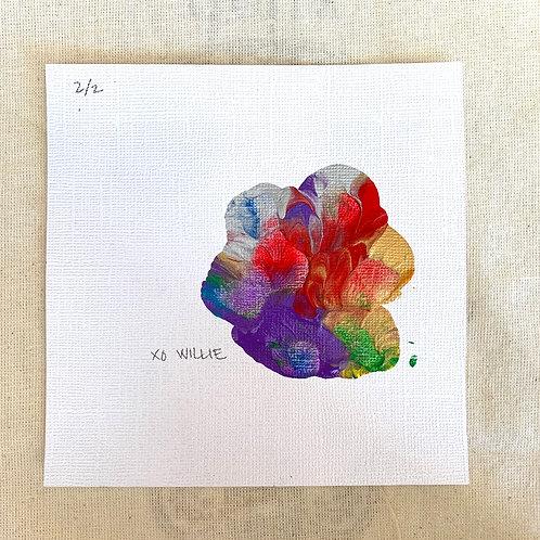 Willie's Art - Rainbow on Linen Texture Series 2/2