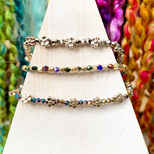 Crystal Daisy Strand Bracelet