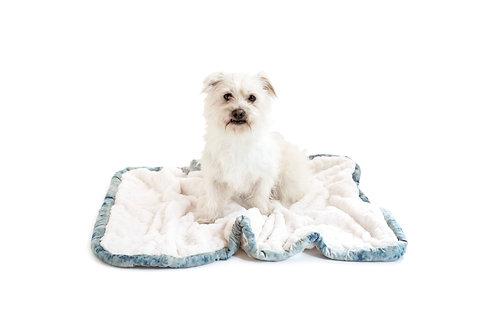 Fuzzy Dog Blanket INDIGO TIE DYE