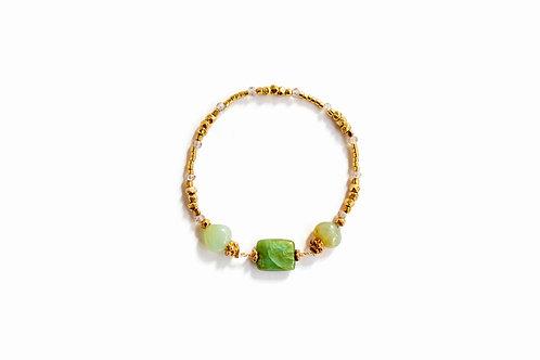 Peruvian Opal + Gold Bracelet