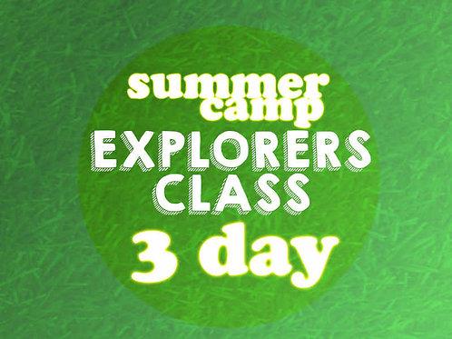 Explorers 3 Day Camp