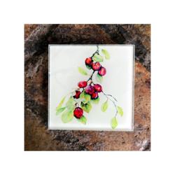 Victoria Plums Glass Coaster