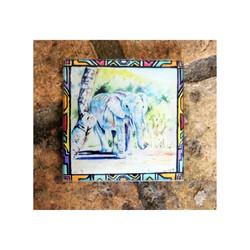 Elephant Glass Coaster