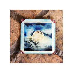 Blue Moon Glass Coaster