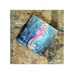 Seahorse Glass Coaster