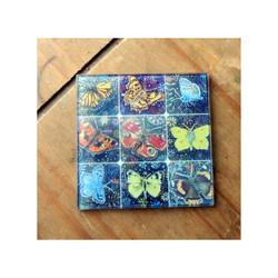 Butterflies Glass Coaster