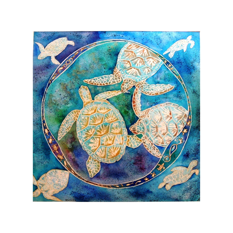 Turtles in Blue