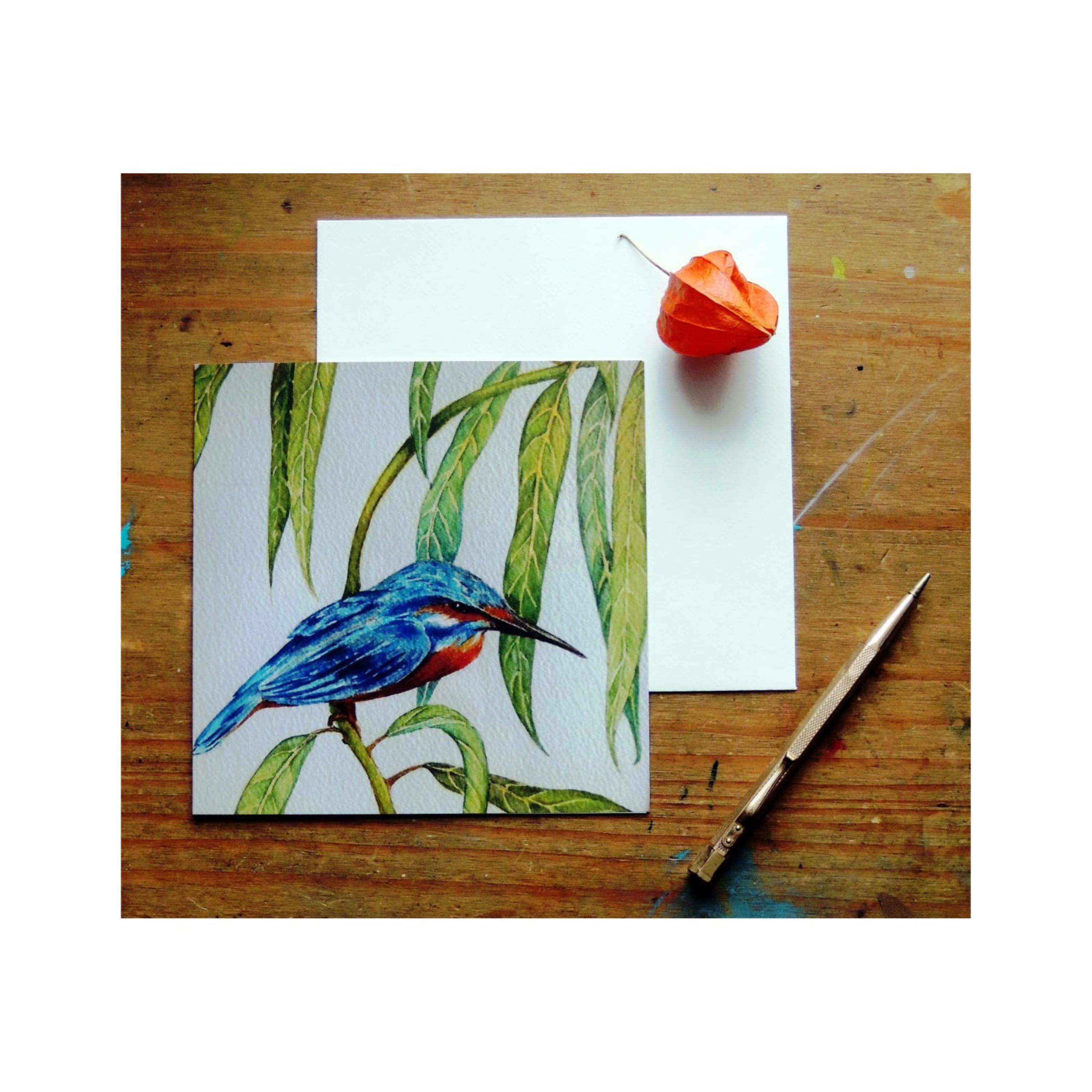 Kingfishers in Willow Tree
