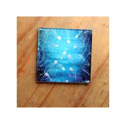 Box jellyfish Glass Coaster