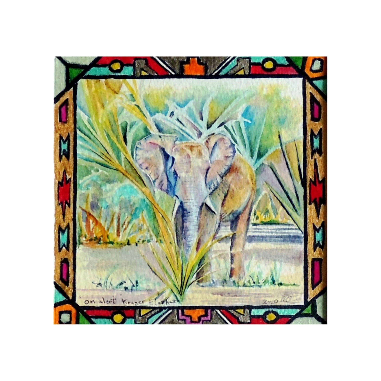 'On alert' Kruger Elephant