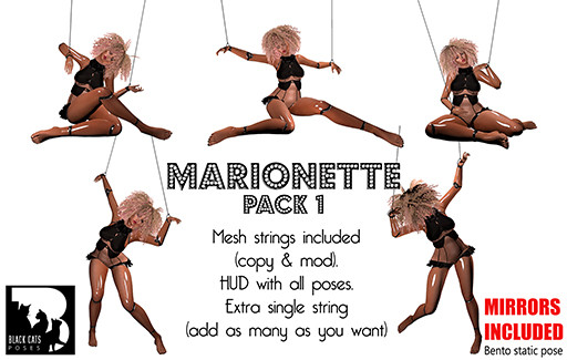 Black Cats poses - pic - Marionette PACK