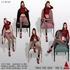 [Ahroun Designs] Female Pose Chair Pack