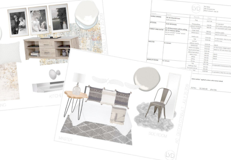 design mood board