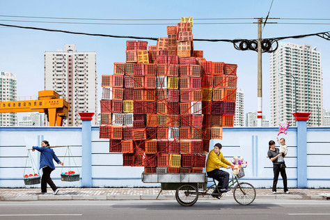 Tótens de carga em Xangai.