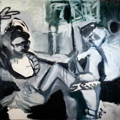 Bacchanal 1, oil on canvas, 150 x200 cm, 2020