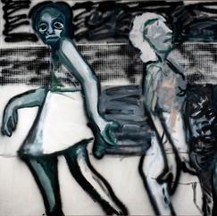 Bacchanal 4, acrylic and oil on canvas, 150x200 cm, 2021