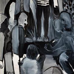 Huddle, oil on canvas, 140x130 cm, 2020