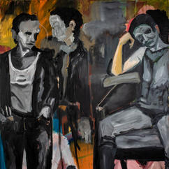 Watchers, oil on canvas, 160x150 cm, 2021