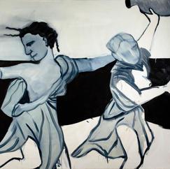 Maenads, oil on canvas, 150x160 cm, 2020