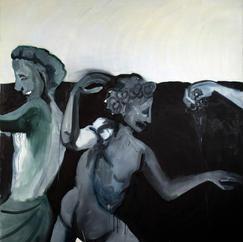 Bacchants, oil on canvas, 150x160 cm, 2020