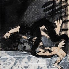Scramble, acrylic and linen on canvas, 30x30 cm, 2021