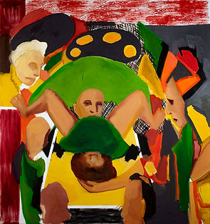 Birth, oil on canvas, 160x150 cm, 2019