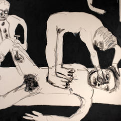 On the Table, acrylic on canvas, 150x200 cm, 2021