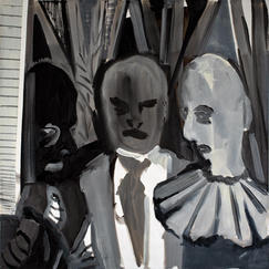 Three, oil on canvas, 100x100 cm, 2019