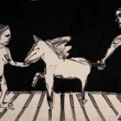 Unicorn, acrylic on canvas, 41x61 cm, 2021