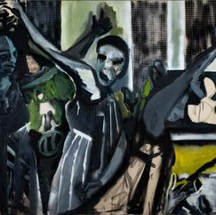 Bacchanal 3, acrylic and oil on canvas, 150x205 cm, 2020