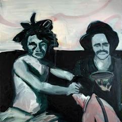 Sitters (After Velazquez), oil on canvas, 150x110 cm, 2020