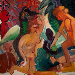 Bacchanal Goes On, oil on canvas, 200x180 cm, July 2021