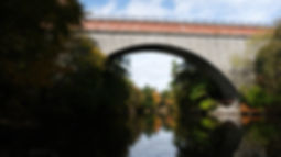 Echo Bridge in fall