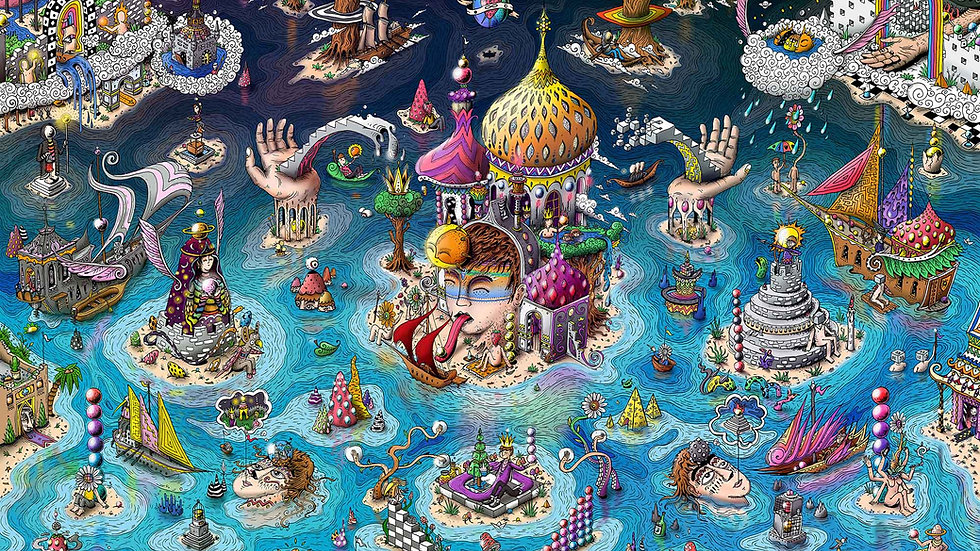 Third eye kingdom (Canvas 100x70)