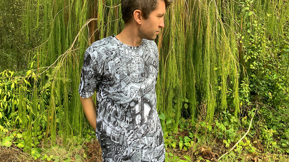 Inside the Rutopia temple - All over print shirt +Shipping