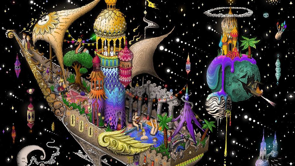 The Cosmic Ship A1 Print