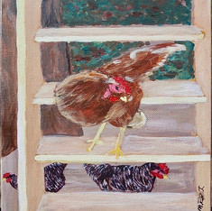 Chicken Ladder by Marty Roberts